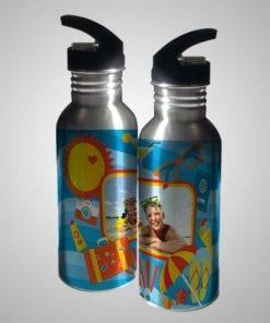 Botella de Aluminio con Popote