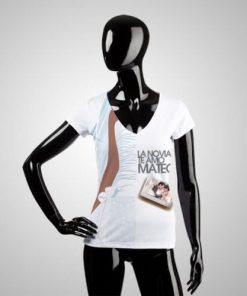 Camiseta Mujer Corte Unico Ex Ex Gde