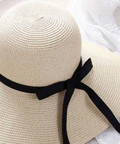 Sombrero de paja de moda de niña dulce