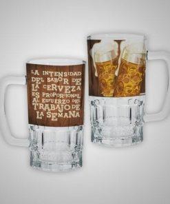 Tarro de Cerveza de Cristal