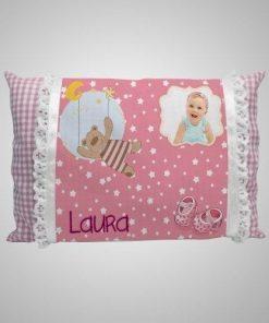 Almohadita para bebe rosa