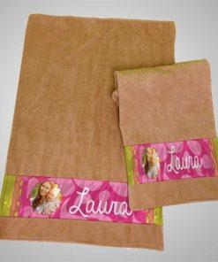 Toallas Decorativas Kit de 2 pzas Chica 24.5 x 5.2 cm Grande 34x8cm