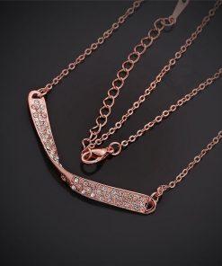 Cadena diamante imitacion en rosa