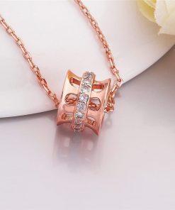 Collar geometrico hueco de cobre