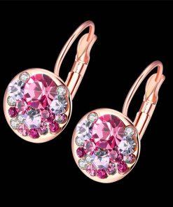 Pendientes de Clip Chapado en Oro Rosa