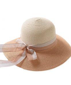 Sombrero redondo de playa para mujer