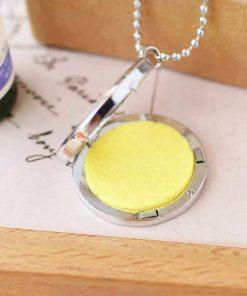 Collar colgante de aromaterapia con diseño de canario hueco