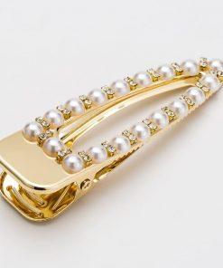 Pinzas para el cabello con adorno de imitación de perlas