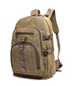 Backpack de lona casual de gran capacidad para hombre vintage