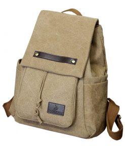 Backpack de lona para computadora portátil de estilo universitario moderno vintage
