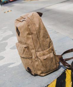 Backpack de lona unisex estilo clásico con 4 distintos colores