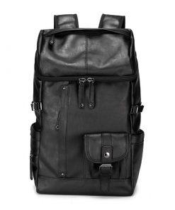 Backpack de viaje tela tipo piel estilo vintage