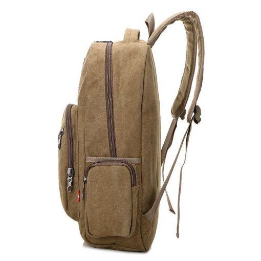 Backpack para mujer color sólido con varios cierres