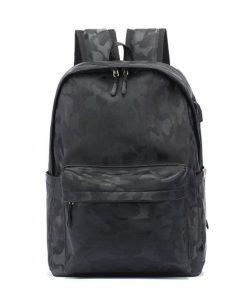 Backpack unisex con estampado de camuflaje