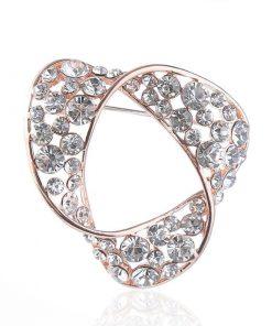 Broche con un diseño creativo de diamantes artificiales para mujer