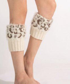 Calentador para pierna de cuero artificial