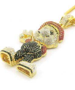 Collar de diamantes de imitación con un diseño bonito de Super Mario