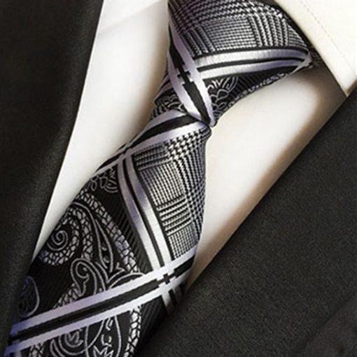 Corbata de poliéster y mancuernillas