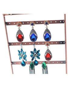 Exhibición de metal de joyería de múltiples capas