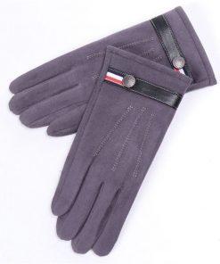 Guantes de invierno para hombre con diseño de correa con botón