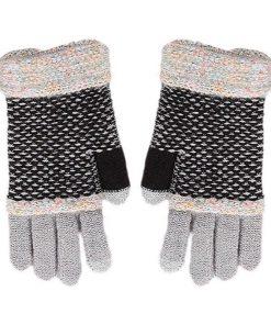 Guantes de moda para mujer con parche en los dedos touchscreen