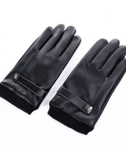 Guantes para frío tipo cuero para hombre