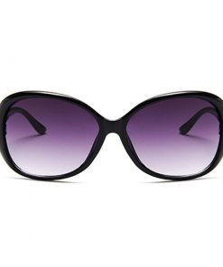 Lentes de sol diseño ovalado vintage para mujer