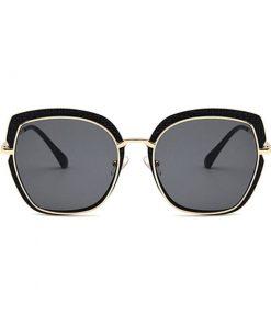 Lentes de sol estilo vintage forma cuadrada marco metálico unisex