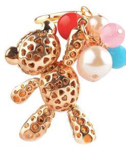 Llavero de oso encantador con globos