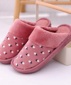 Pantuflas de algodón  cómodas con estampado de cereza