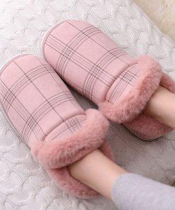 Pantuflas de algodón con una calidez de comodidad para mujer