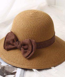 Sombrero de paja de moda para mujer