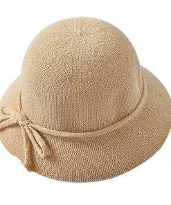 Sombrero tejido de paja para mujer