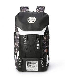 Backpack con bolsillo frontal de tela de malla con diseño de mochila de camping