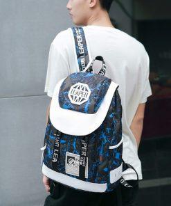Backpack de viaje resistente al agua con cremallera bidireccional