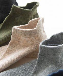 Calcetines casuales cortos de color liso para hombres set de 10 pares