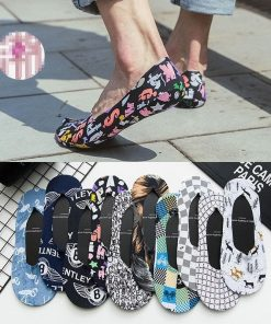Calcetines casuales tobilleros con estampado hipster set de 10 pares