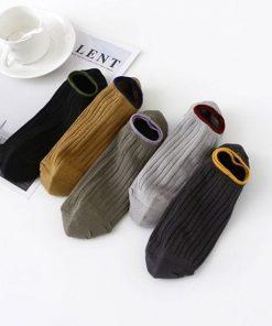 Calcetines casuales tobilleros transpirables en color liso para hombres set de 10 pares
