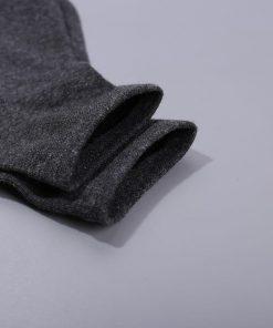 Calcetines deportivos de algodón de color sólido y transpirables