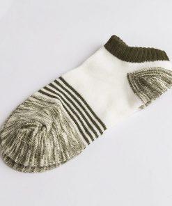 Calcetines gruesos casuales de algodón con diseño de rayas