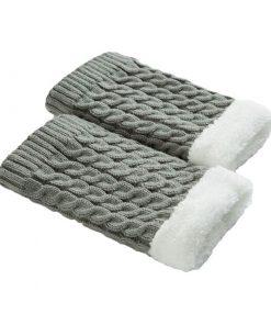 Calentadores de piernas con forro de lana hechos a mano para mujeres