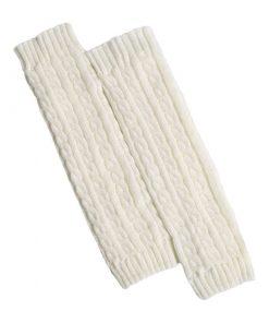 Calentadores largos con tejido de punto