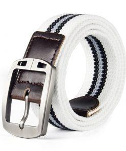 Cinturón casual con diseño de líneas