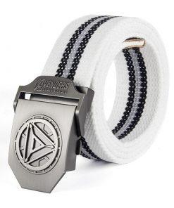 Cinturón casual con hebilla plateada con diseño de Avengers