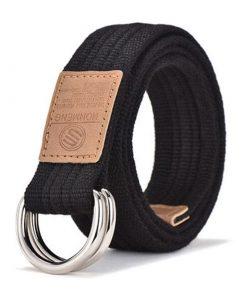 Cinturón casual de moda con hebilla plateada de 2 círculos