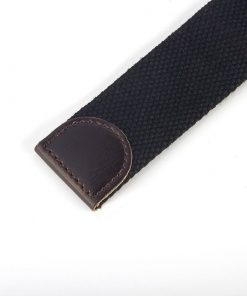 Cinturón casual sport de lona con hebilla plateada