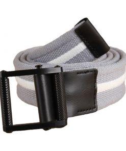 Cinturón de lona con diseño de línea de distinto color