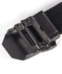 Cinturón de lona con hebilla con diseño de escudo de Capitán América