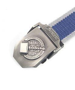 Cinturón de lona con hebilla con diseño de súper héroes