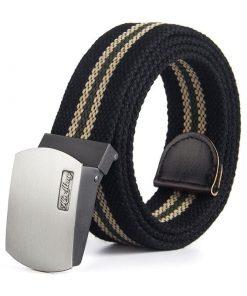Cinturón de lona duradero para uso casual